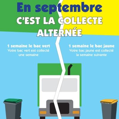 Collecte des déchets: en septembre, c'est la collecte alternée !