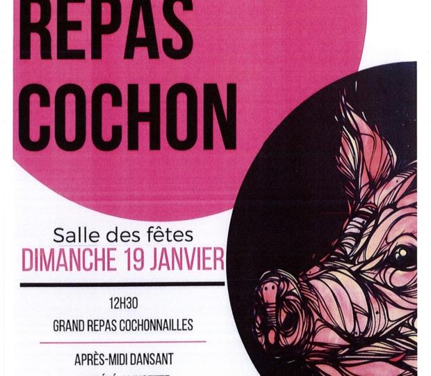 Fête de la Saint-Antoine, Repas Cochon