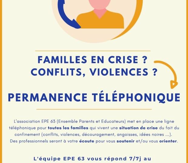 Permanence téléphonique pour les familles