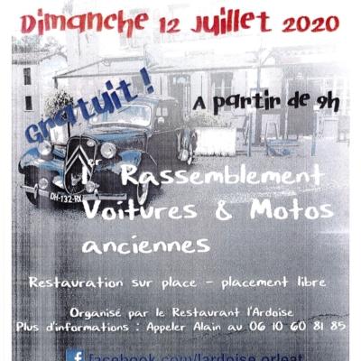 Rassemblement voitures et motos anciennes à l'Ardoise