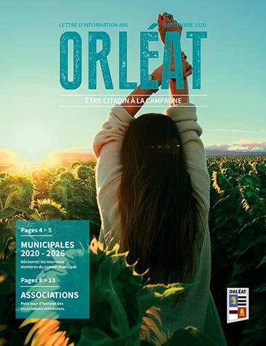 Couverture du journal municipal d'Orléat - Septembre 2020